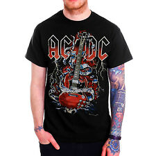 AC/DC Angus Young Guitar Sketched Graphic Mens Black T Shirt  S - XXL