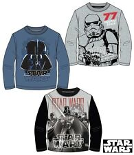 *SALE* Star Wars Long Sleeve T-Shirt 3 Style Darth Vader Ages 6 - 13 Years.