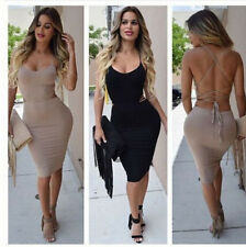Women Sexy Sleeveless Backless Bandage Bodycon Cocktail Evening Party Mini Dress