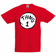 Thing 1, 2, 3, 4, 5 Kids Dr Suess Cat In The Hat Inspired T Shirt - Family Sizes