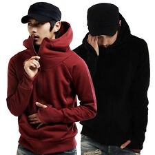 New Men's Warm Zipper Hoodies Designed Hooded Slim Fit Jacket Coat Casual Tops e