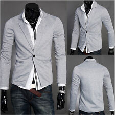 Fashion Stylish Men's Casual Slim Fit One Button Suit Blazer Coat Jacket Tops mn