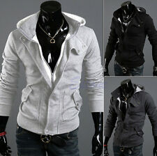 Fashion Men's Stylish Slim Designed Hooded Cardigan Coat Jacket Warm Fit tops c2
