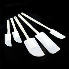 5PC PLASTIC MIXING SPATULAS BAKING COOKING CAKE SET KITCHEN UTENSILS ICING SPOON