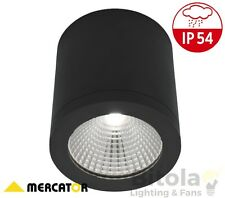 MERCATOR COOPER SURFACE MOUNTED 10W LED DOWNLIGHT BLACK DIMMABLE ROUND MD5010BLK