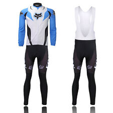 Best Mens Bicycle Jersey Set Sport Cycling Wear Long Sleeve Shirt Bib Short Suit