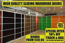 Sliding Wardrobe Doors DIY High Gloss Panels (650mm x 2000mm) Solid & Mirrored