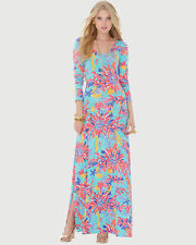 $228 New Lilly Pulitzer Trippin and Sippin LAUREN  Maxi Dress Extra Small XS