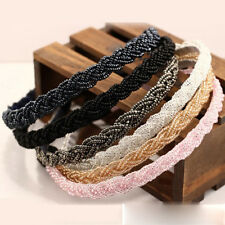 Women Bead Rhinestone Crystal Heads Chains Headband Piece Hair Band Girls new