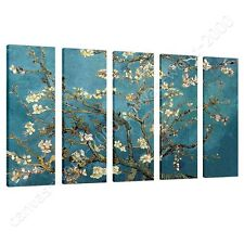CANVAS +GIFT Almond Blossom Vincent Van Gogh 5 Panels Poster Wall Decor