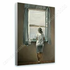 CANVAS +GIFT Woman At The Window Salvador Dali Wall Art Paintings Poster
