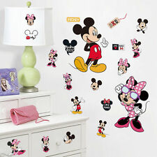 Mickey Minnie Mouse kids room decor Disney Wall sticker Cartoon wall decals art