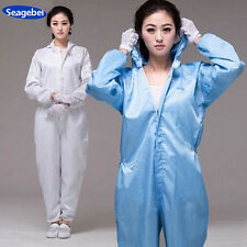 Seagebel ESD-Safe Anti-static LAB Smock Clothes Anti-dust One-piece Garment +hat