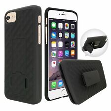 For Apple iPhone 7 / 7 Plus Slim Holster Shell Case Cover with Belt Clip - Black