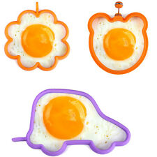 DIY Breakfast Fried Egg Mold Silicone Pancake Egg Ring Shaper Funny Cooking Tool
