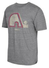 "Quebec Nordiques CCM ""Retro Logo"" Distressed Premium Tri-Blend Gray T-Shirt"