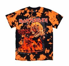 Iron Maiden Licensed Bleached T-Shirt, Iron Maiden Number Of The Beast, Bleached