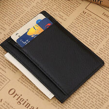 New  Mens Wallet Money Clip Credit Card Holder ID Business Leather Mini Purse