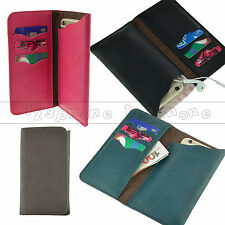 UNIVERSAL SYNTHETIC LEATHER WALLET CARD HOLDER PURSE POUCH CASE FOR SAMSUNG LG