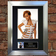 RIHANNA Signed Autograph Mounted Photo Reproduction A4 Print no246