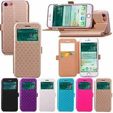 Luxury Flip Leather Wallet View Window Skin Case Cover for Apple iPhone 7/7 Plus