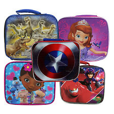 Childrens Kids Boys Girls Insulated Lunch Pack School Lunch Box Picnic Bag