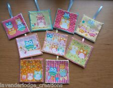 Lavender Bags/Sachets/Pillows Pastel Coloured Owls Designs Aromatic  Lovely Gift