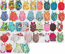 NWT Girls Sunsuit Romper Carters NEW Set Hat Summer Outfit NB 3m 6m 9m 12m 18m