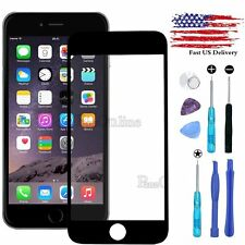 Replacement Front Outer Screen Glass Lens for iPhone 6 6S Plus / Tools Kit Black