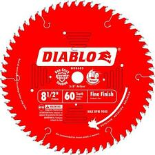NEW Diablo 8-1/2 in. x 60-Tooth Fine Finish Saw Blade D0860S Circular Power Tool