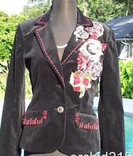 Cache $288 VELVET ELABORATE TEXTURED EMBELLISHED Lined Jacket Top NWT S/M/L