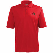 Antigua Tampa Bay Buccaneers Red Pique Xtra-Lite Polo