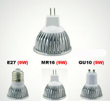9W MR16 GU5.3 GU10 E27 LED Spot Light Warm Cool White Bulb Ceiling Down Lamp