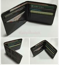 Bride Racing Fabric Leather Bifold Business Credit Card Holder Wallet Purse