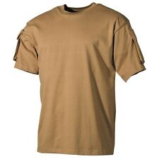 Tactical Military Army Special Ops Combat T-Shirt - Coyote - Short Sleeve