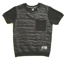 LRG Lifted Research Group Boys Black Short Sleeve Lined Pocket Pullover Wind Top
