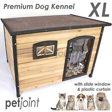 XL 127x98x91cm Wooden Pet Dog Kennel House Flat Roof Extra Large Timber Wood Hom