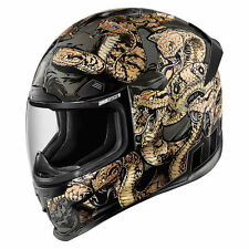 *Fast Shipping* ICON Airframe Pro (Cottonmouth) Gold Motorcycle Helmet
