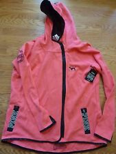 VICTORIAS SECRET PINK BLING 2015 NYC FASHION SHOW DOG ZIP HOODIE TRAC JACKET NWT