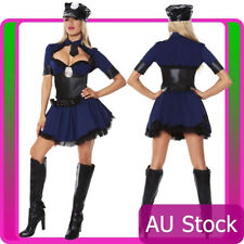 Ladies Navy Cops Police Uniform Halloween Party Fancy Dress Costume Outfit
