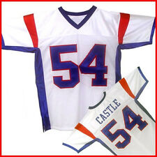 Thad Castle #54 Blue Mountain State Football Jersey Mens White TV New
