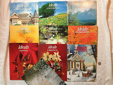 10 IDEALS MAGAZINES AMERICANA, OLD-FASHIONED, CHRISTMAS, MOTHER'S DAY 1980-90's
