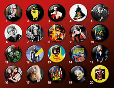 Hammer Horror Halloween Classic Cult Movie 38mm badges & fridge magnets