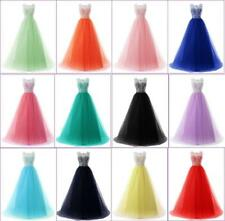 New Long Tulle Wedding Evening Formal Party Ball Gowns Prom Bridesmaid Dress J89