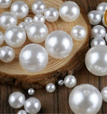 wholesale faux pearl acrylic plastic round beads jewellery making  4mm-18mm