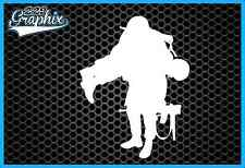 *WARRIOR WOUNDED* Soldier Military Vinyl Decal Window Sticker Laptop HERO