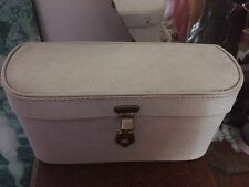 Vintage Retro Pixie Vanity Case Made in England Cream Red Wedding Stage Prop Key