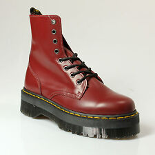 ANKLE BOOT WOMAN DR. MARTENS WITH WEDGES LEATHER BORDEAUX - 6E27