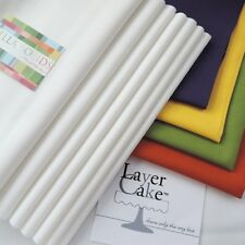 """Layer Cake Squares Moda Bella Solids 20 Squares of 10"""" x 10""""  in each pack"""
