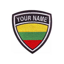 LITHUANIA CUSTOM CREST FLAG NAME EMBROIDERED PATCH